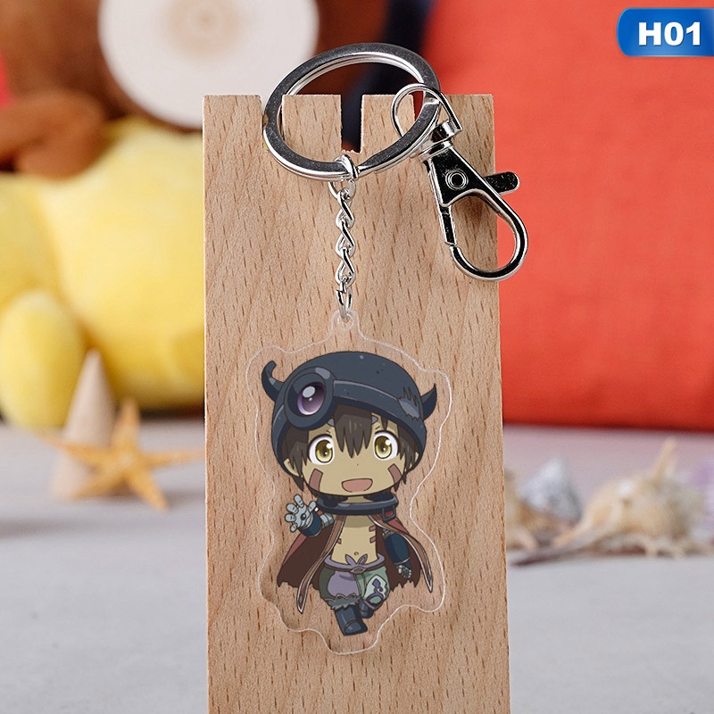 New  Anime Cartoon Made In Abyss Nanachi Acrylic Keychain Keyring Gift For Children Cosplay