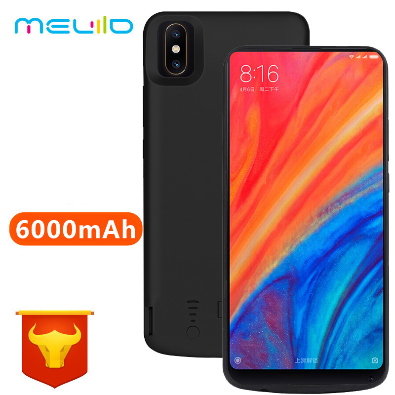6000mAh <font><b>Mi</b></font> <font><b>Mix</b></font> <font><b>2s</b></font> <font><b>Battery</b></font> Case For Xiaomi <font><b>Mi</b></font> <font><b>Mix</b></font> <font><b>2s</b></font> Power Cover For Xiaomi <font><b>Mi</b></font> <font><b>Mix</b></font> <font><b>2s</b></font> USB Charger Capa Fundas image
