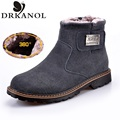 Men Shoes 2016 New Autumn Winter Warm Ankle Boots Genuine Leather Sewing Men Snow Boots Round Toe Casual Martin Boots XZ&008