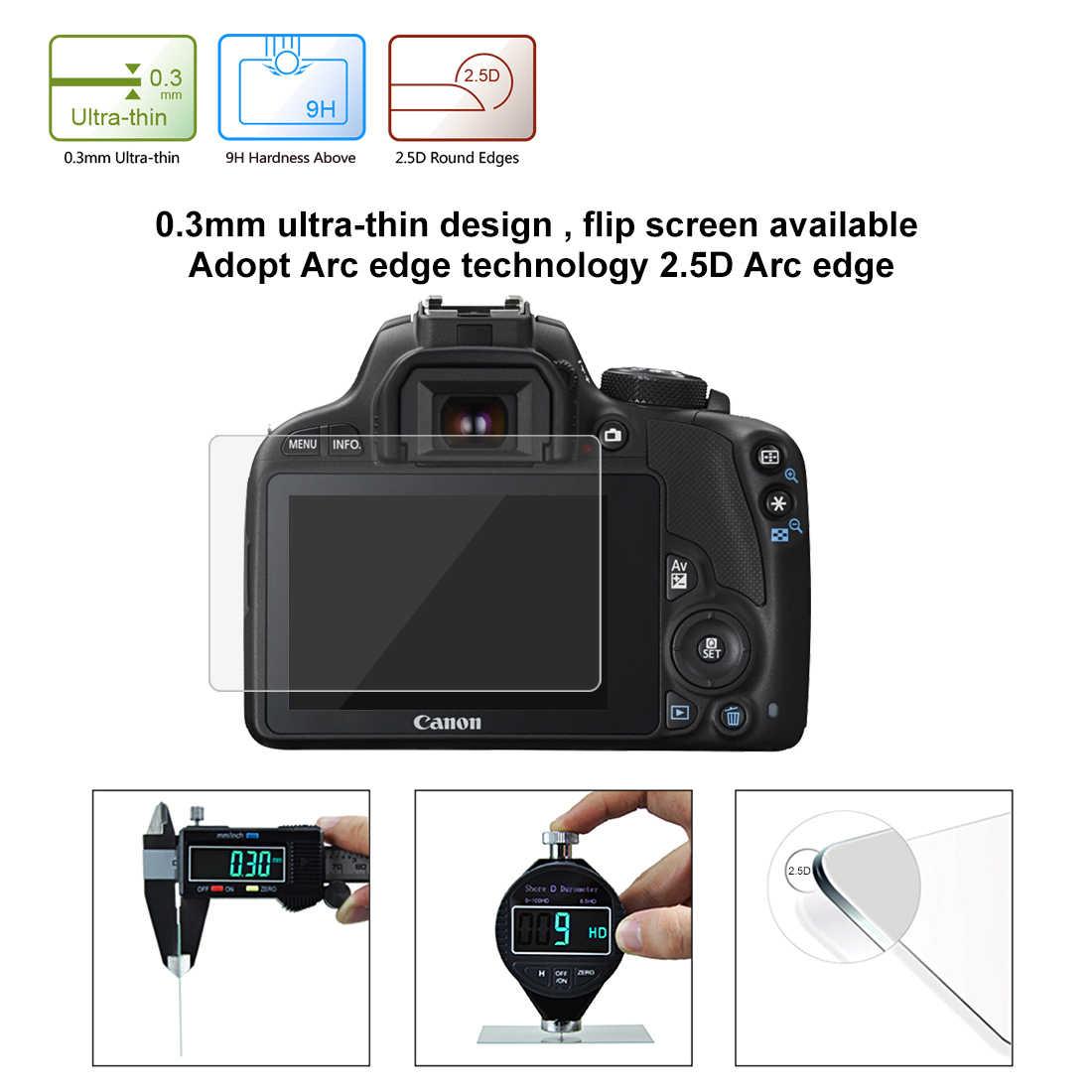 4 шт./лот (2 парами очков + 2 салфетки) для однообъективных цифровых зеркальных фотокамер и записывающих однообъективной зеркальной камеры Canon EOS M3 M5 M10 100D Rebel SL1/Kiss X7 PowerShot G1X Mark II G1X2 Экран протектор-!