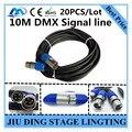 20 ШТ./10 М DMX сигнала линии LED PAR Сигнальной линии металла РЛ DMX 3-КОНТАКТНЫЙ кабель профессиональный освещение сцены dj оборудование 100% новый