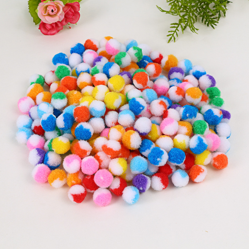 186Pcs font b bag b font Sequins Pompom Ball Fur Ball Plush Mixed Color Creative font