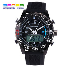 SANDA 2016 digital display double pointer Mens Sport watch waterproof watch luminous watch relogio masculino watch men