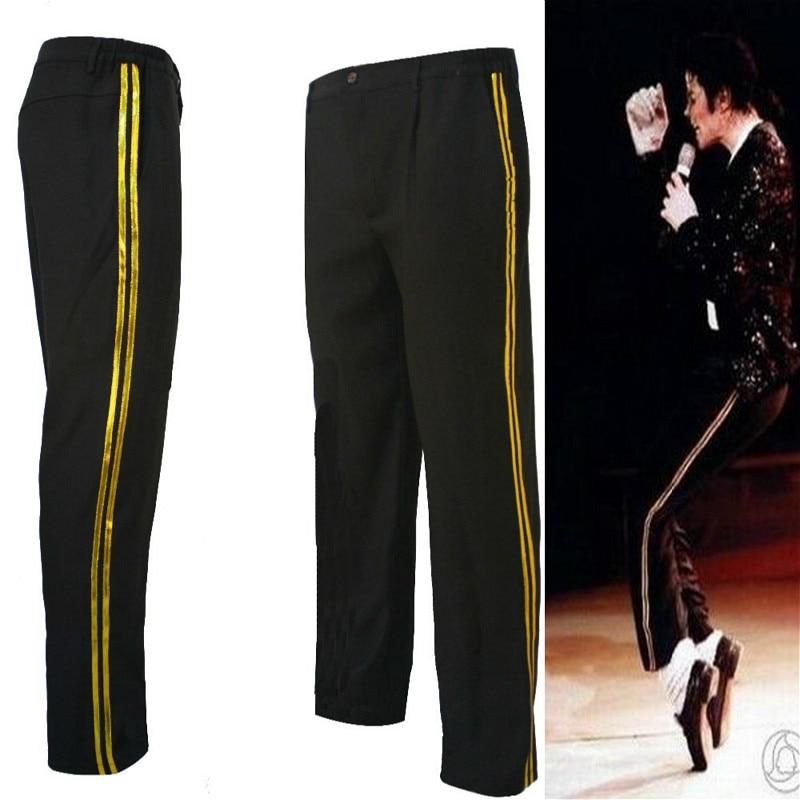 Mj Michael Jackson Hitam Billie Jean Penghibur Lurus Golden Kasual Cropped Jeans Elastisitas Pergelangan Kaki Celana Panjang Ankle Length Pants Trousers Casualpants Pants Aliexpress