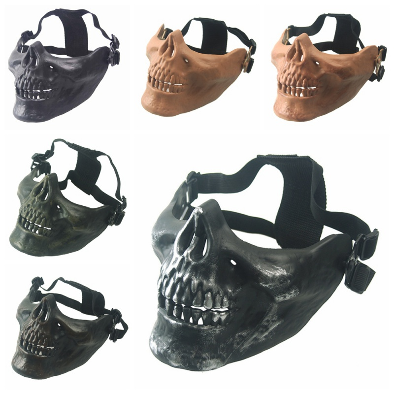 Halloween Half Face Body Protective Mask Army Fan Mask M03 Warrior Half Face Protective Mask Live CS Field Equipment