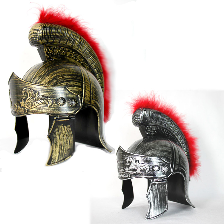 Halloween Adult Ancient Generals Plastic Helmet Ancient Rome Cosplay Props Toy