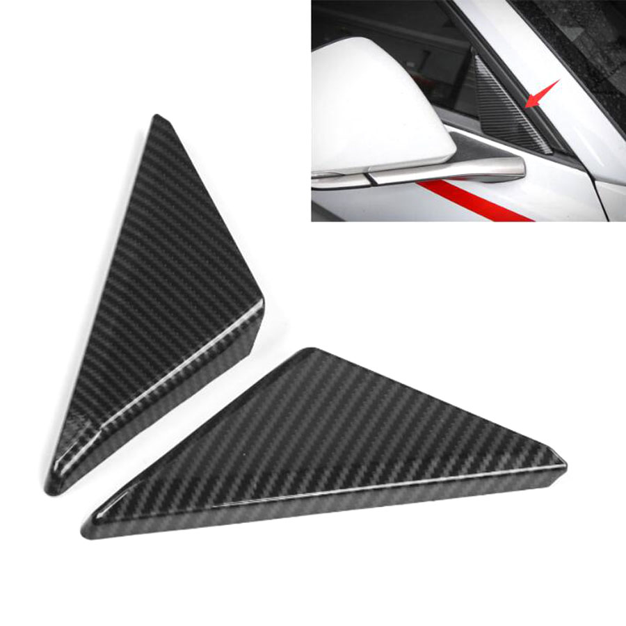 YAQUICKA For Ford Mustang 2015 2016 2017 2pcs Car Exterior Car Front Door Window Triangle Cover Trim Bezel Stickers Styling ABS areyourshop car window front door switch panel cover trim stickers for audi a4 b6 b7 2002 2007 car styling car covers detector