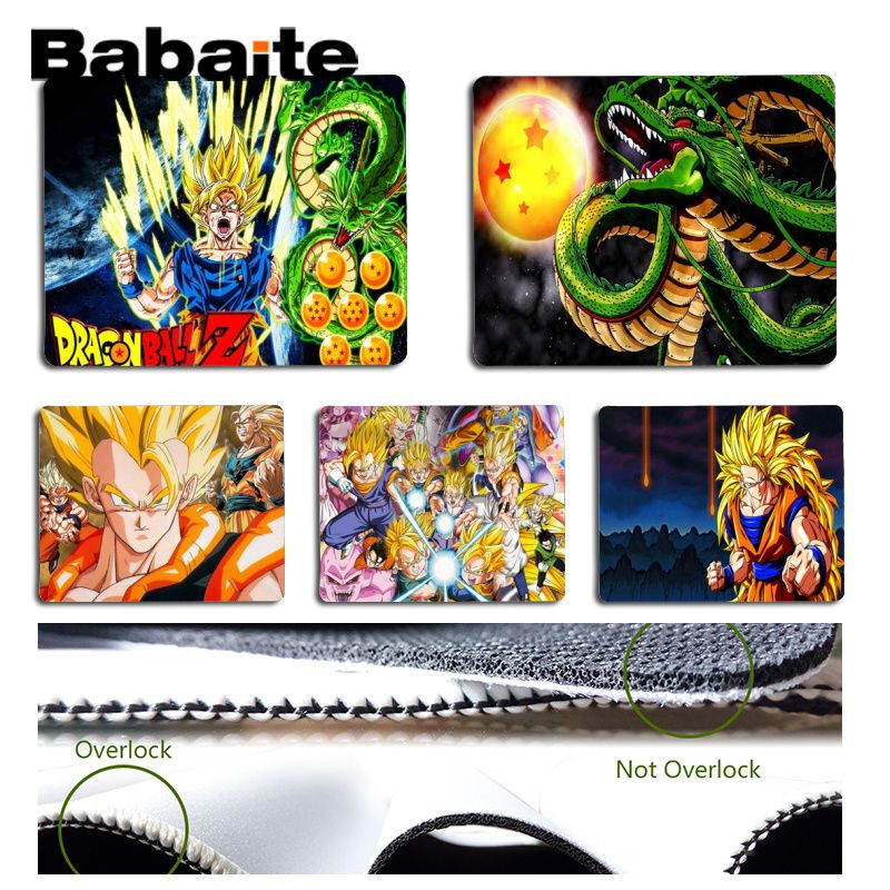 Babaite Top Quality Dragon Ball Z Silicone Pad to Mouse Game Size for 18x22cm 25x29cm Rubber Mousemats