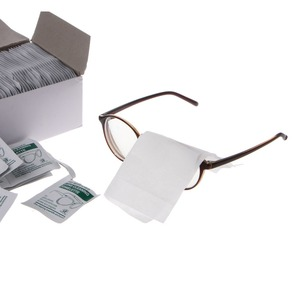 100 قطعة تنظيف الملابس المتاح مناديل مبللة يمسح مكافحة الضفدع عدسة نظارات تلميع