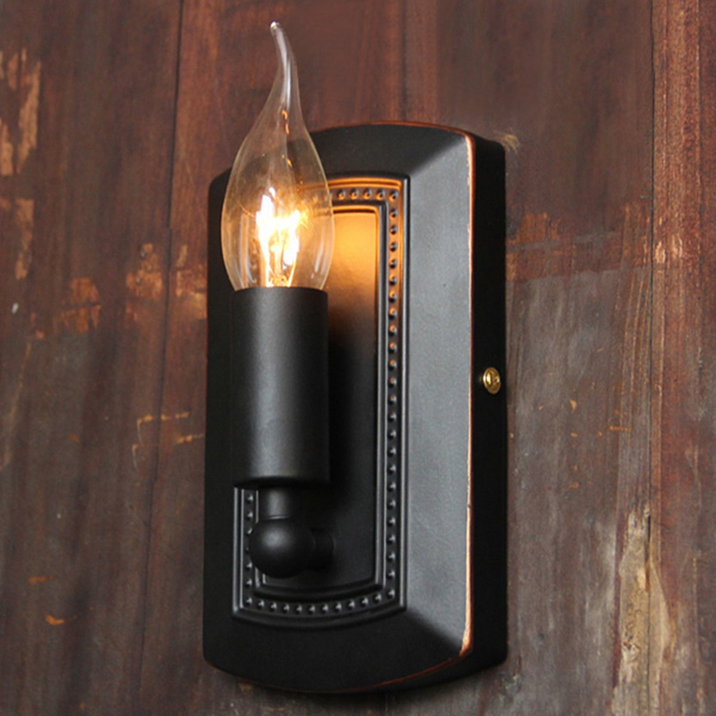 Online buy wholesale candle sconces from china candle sconces vingtage style iron retro iron e14 candle wall lamp light sconce bedroom corridor bar indoor light mozeypictures Images