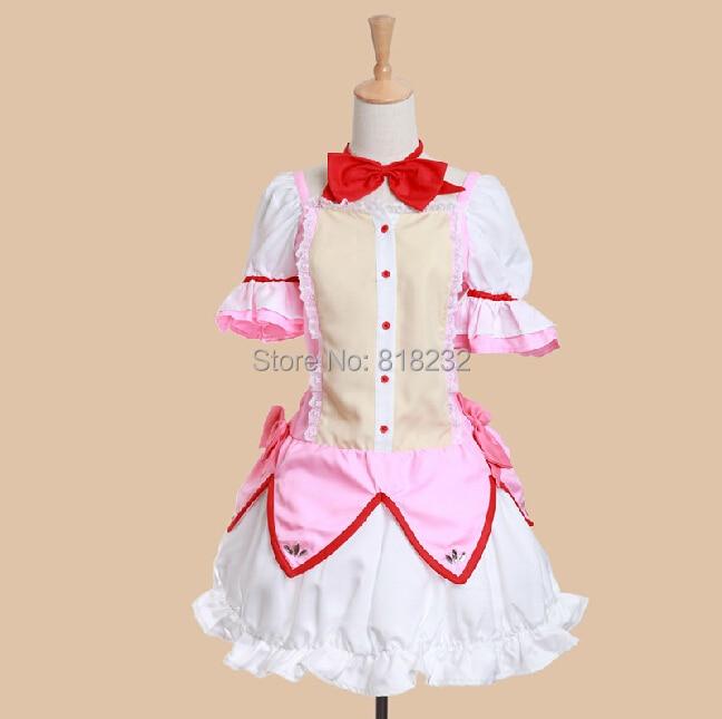 Puella Magi Madoka Magica Kaname Madoka Uniform Dress Anime Cosplay Costume