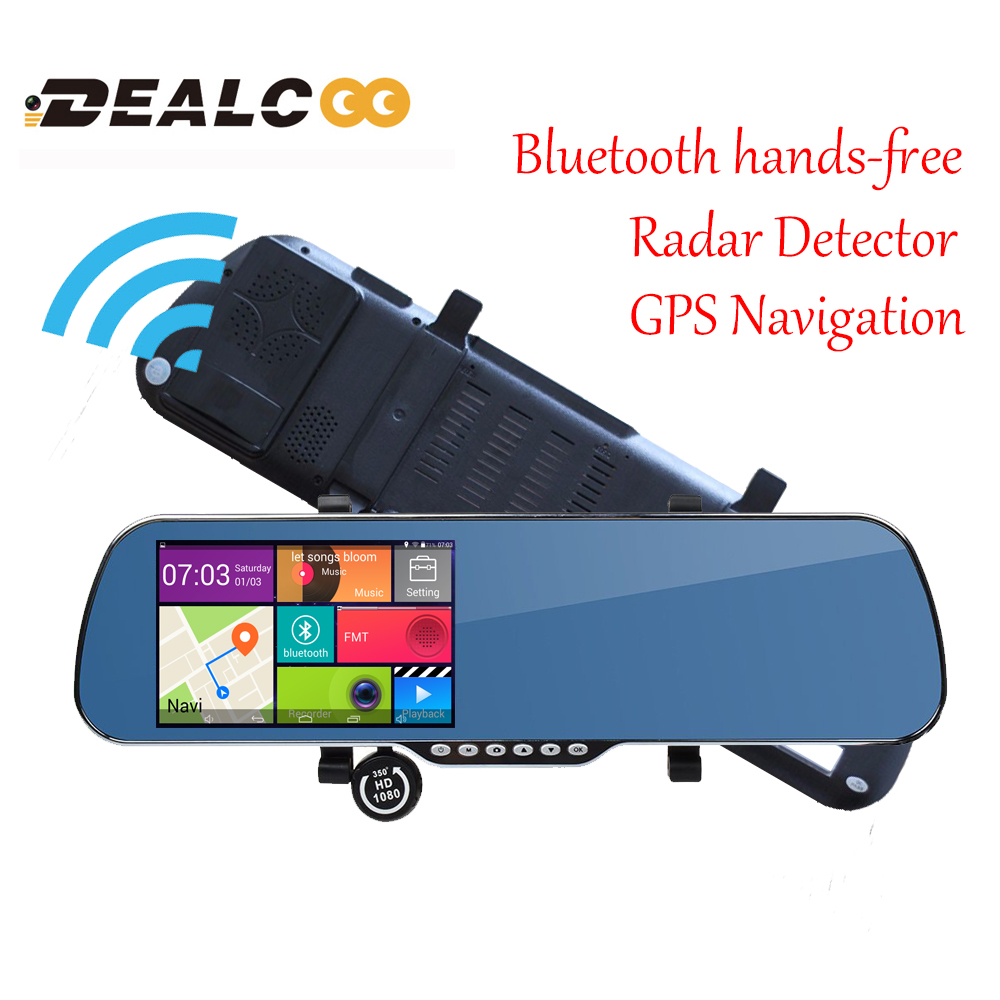 New 5 0 Touch Android Radar Detectors dash camera parking car dvr Rearview mirror video recorder