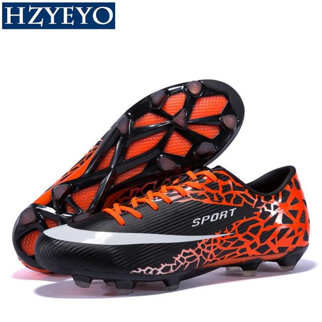 HZYEYO Boy Girl Soccer Boots Men Women Unisex Kid Football Boots  Voetbalschoenen Trainer Sports Sneakers Cleats Soccer Shoes 001 94c9f84d71dd