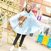 Cute Women Raincoat Poncho Pattern Portable Light Rain Coat Household Merchandise Accessories Supplies Gear Item Stuff