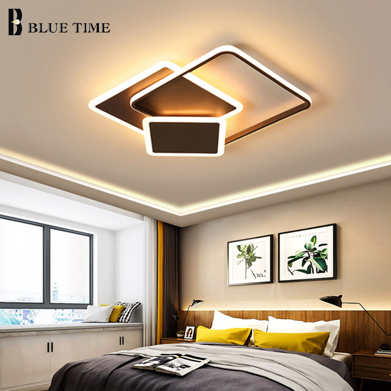 Rectangle Modern Home LED Ceiling Lights For Dining Room Bedroom Living Room Kitchen White&Coffee Finished LED Ceiling LampsRectangle Modern Home LED Ceiling Lights For Dining Room Bedroom Living Room Kitchen White&Coffee Finished LED Ceiling Lamps