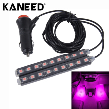 1 Set 2 in 1 4.5W 18-LED Car Interior Footwell Floor Light Decorative Atmosphere Lamp Strips With Cigarette Lighter Car Styling