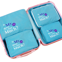 6SETS / LOT Fashion Double Zipper Waterproof High Quality Men Women Luggage Travel Bag Packing Cube Portable Organizer Wholesale
