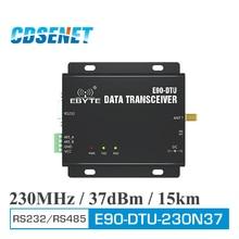 E90 DTU 230N37 جهاز الإرسال والاستقبال اللاسلكي RS232 RS485 230 MHz 5 واط لمسافات طويلة 15 كجم ضيق النطاق 230 MHz جهاز الإرسال والاستقبال راديو مودم