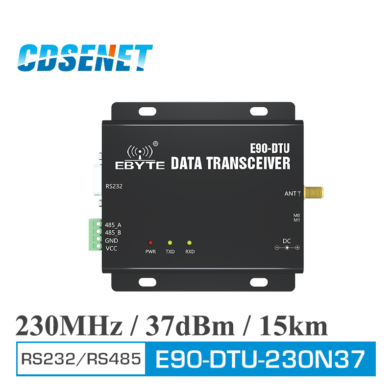 E90 DTU 230N37 Wireless Transceiver RS232 RS485 230MHz 5W Long Distance 15km Narrowband 230 MHz Transceiver Radio Modem-in Fixed Wireless Terminals from Cellphones & Telecommunications