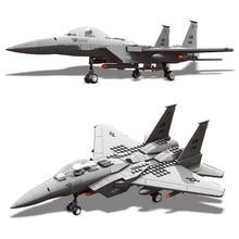 262pcs Military Series F-15 Eagle Fighter Building Blocks Model Compatible Brand With Figures Airplane Set Bricks Toys For Kids цена в Москве и Питере