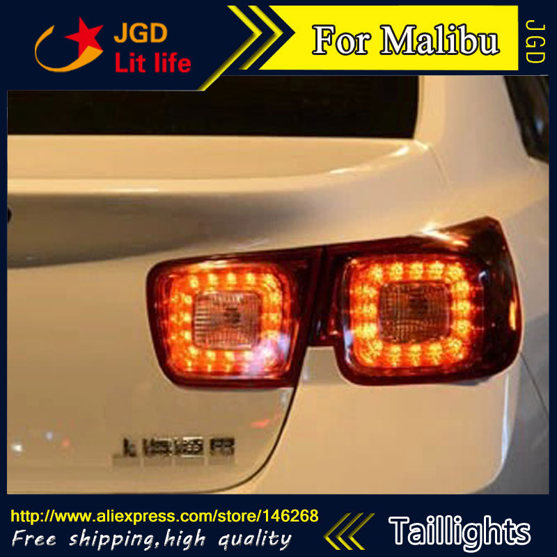 Car Styling tail lights for Chevrolet Malibu taillights LED Tail Lamp rear trunk lamp cover drl+signal+brake+reverse car styling led tail lamp for toyota camry taillights 2012 2014 camry rear light drl turn signal brake reverse auto accessories