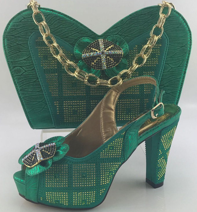 GREEN New style African woman matching italian shoe and bag set for wedding/Party for Free shipping. !MKB1-2 free post welder cap for welder operate the tig mig mma zx7 plasma cutter welder helmet polished chrome welding we are the best