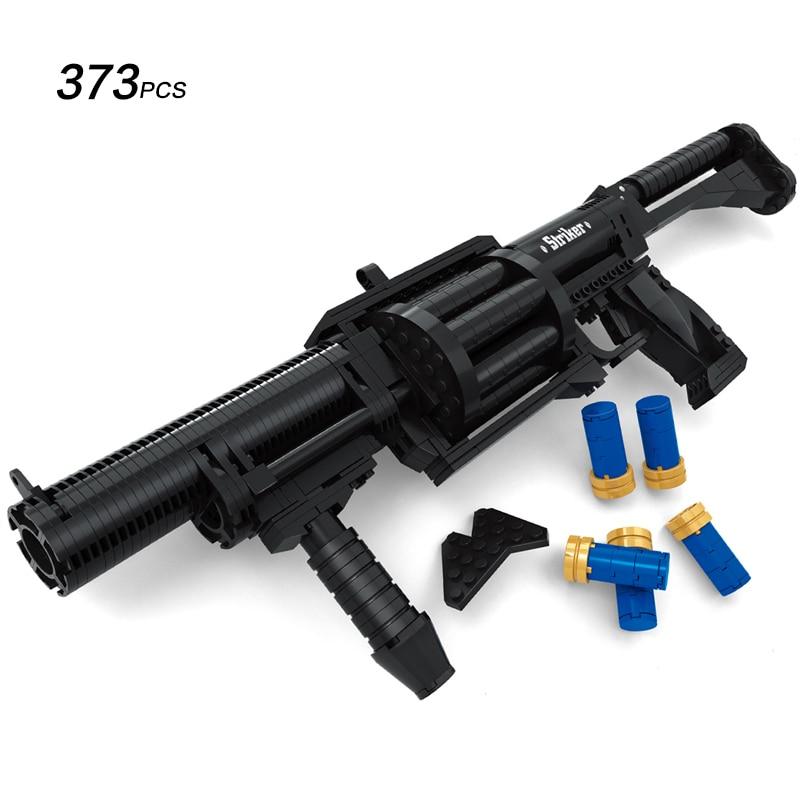 Ausini Military Series Striker Chardonnay Shotgun Model Toys Building Blocks Sets Educational DIY 373PCS 8 in 1 military ship building blocks toys for boys