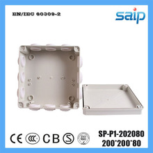 Saip ABS Switch Junction Enclosure With 12 Holes SP-P1-202080 200*200*80