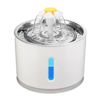 2.4L Automatic Pet Cat Water Fountain with LED Electric USB Dog Cat Pet Mute Drinker Feeder Bowl Pet Drinking Fountain Dispenser 1