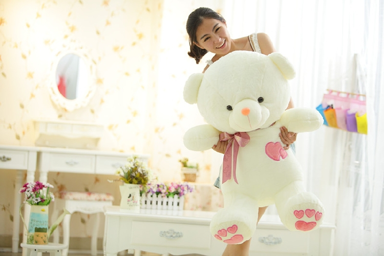 stuffed animal 70cm lovely bear plush toy throw pillow doll gift w3348 stuffed animal 44 cm plush standing cow toy simulation dairy cattle doll great gift w501