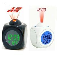 Alarme Horloge Despertador Multifonction LED projection réveil Montre Reloj Saat parlant horloges Despertador Numérique Montre