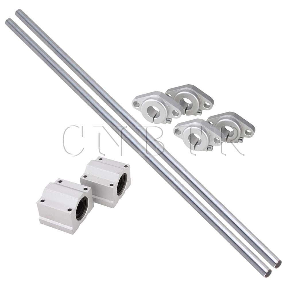 CNBTR 8x Perpendicular 500mm 12mm Optical Axis Shaft Guide Support Linear Slide Block цены