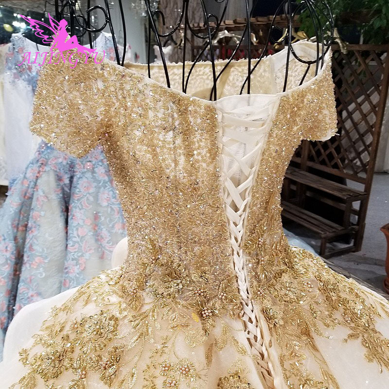 Image 3 - AIJINGYU Elegant Wedding Gown Gowns With Sheer Back Royal Sexy Online Usa Sheer 2018 Wedding Dress With SlitWedding Dresses   -