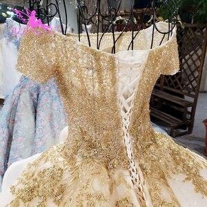 Image 3 - AIJINGYU Elegante Abiti Abito Da Sposa Con Sheer Indietro Royal Sexy On Line Usa Puro 2021 2020 Abito Da Sposa Con Spacco