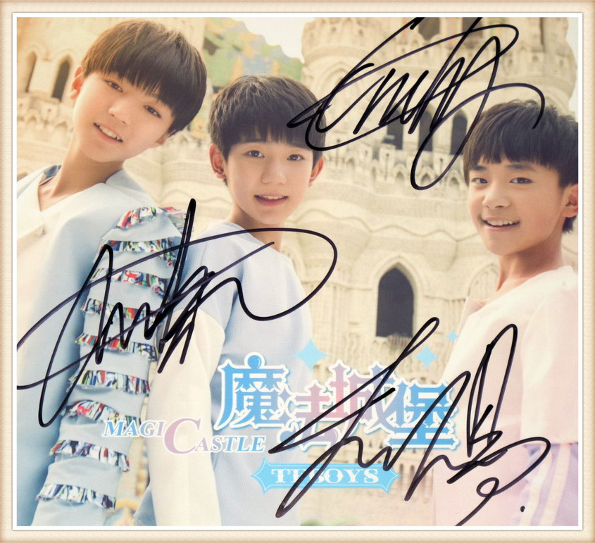 TFBOYS TF BOYS Autographed Signed 2014 EP Magic Castle CD