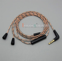 With Mic Remote Volume Hi OFC DIY Earphone Cable For For Senheiser IE8 IE8i IE80 Iphone