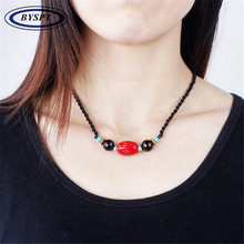 Здесь можно купить  BYSPT Chinese Jewelry Vintage Cord Necklace Ethnic Necklace Handmade Stone Pendants Sweater Necklaces