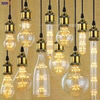 IWHD Bombilla лампада Ретро Свет Винтаж лампы 2 W 220 V промышленных Декор ампулы E27 лампочки Светодиодный лампа Эдисона, лампа Gloeilamp