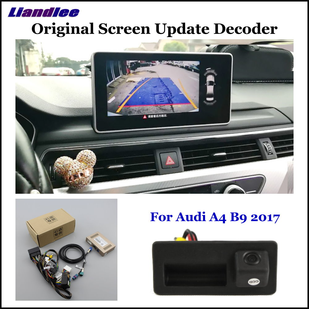 Liandlee For Audi A4 B9 2017 18 Original Display Update System Car Rear Reverse Parking Camera