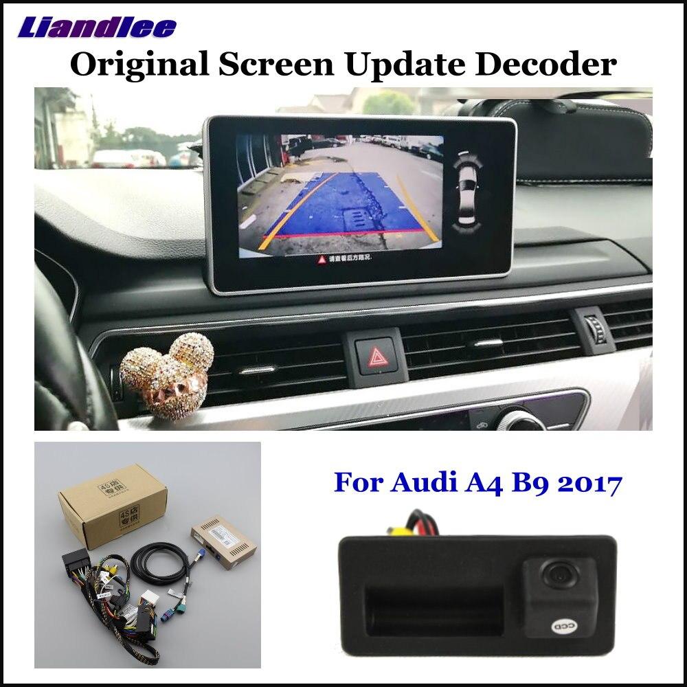 Liandlee Para Audi A4 B9 2017-18 Exibição Original de Atualização Do Sistema de Estacionamento Reverso Traseira Do Carro Invertendo Câmera Digital Decodificador sistema