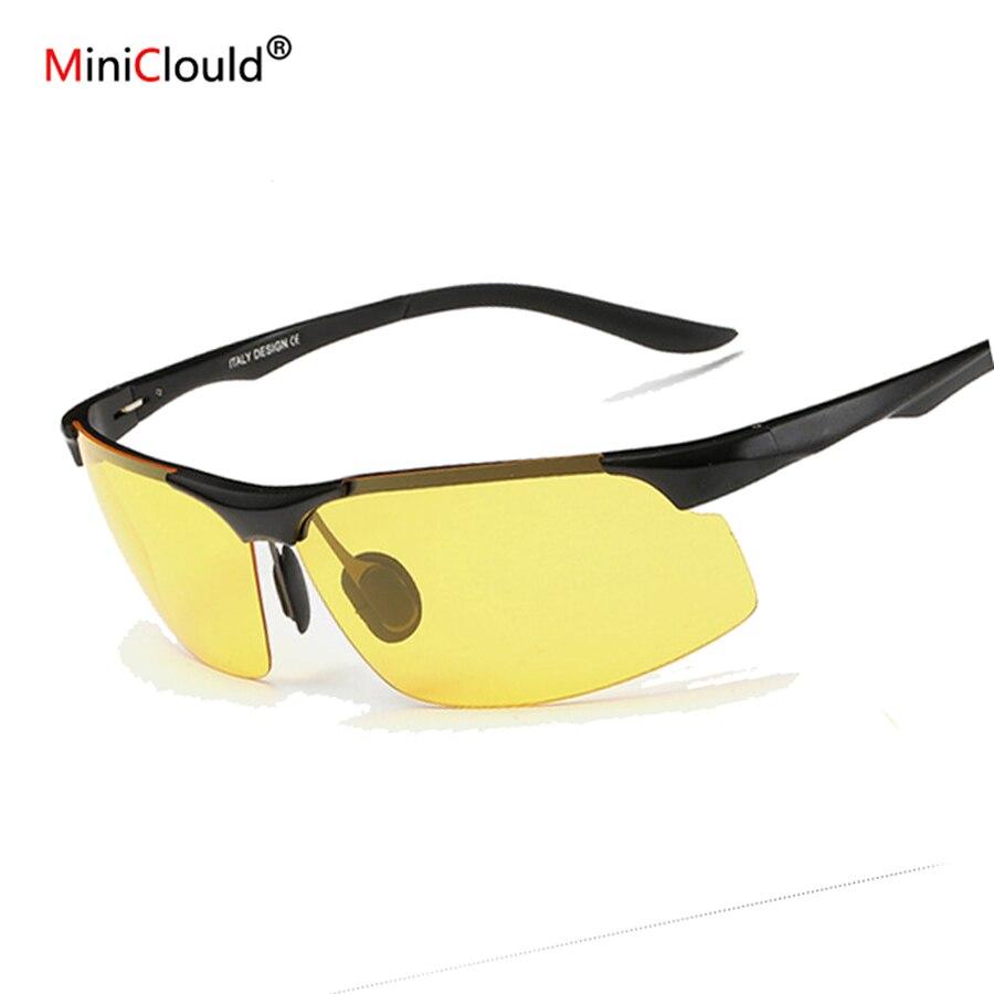 Óculos de Visão noturna Para Dirigir À Noite de Óculos Ao Ar Livre Esportes  Eyewear Prata óculos de Sol Óculos De Pesca Motorista Polaroid de Óculos De  Sol fc664bc312