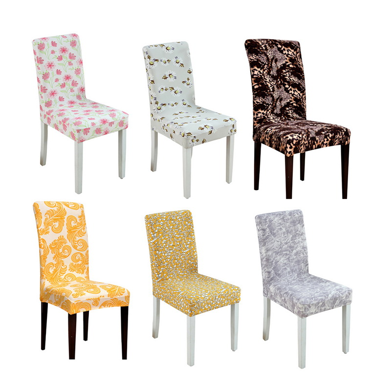 Hoomall Printing Removable Chair Cover Stretch Elastic