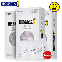 Jissbon Zero Thin Japan Condoms Latex Made Product with Smooth Lubricant Inside for Adult Man Sex Game Play or Cock Ring Cover