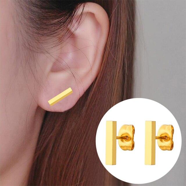 Jisensp 2019 Punk Simple T Bar Stud Earrings for Women Girls Geometric Stud Earrings Jewelry Mother.jpg 640x640 - Jisensp 2019 Punk Simple T Bar Stud Earrings for Women Girls Geometric Stud Earrings Jewelry Mother's Day Gift Brincos Bijoux