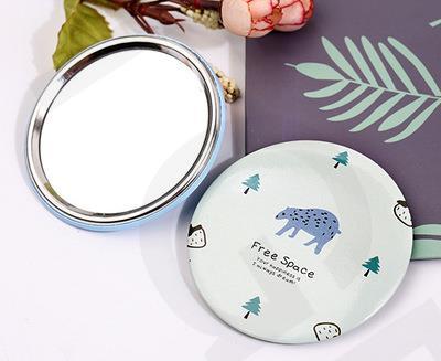 by DHL 500Pcs/Lot Free Shipping Cartoon Pattern Girl Pinting Mini Pocket Makeup Mirror Cosmetic Compact Mirrors