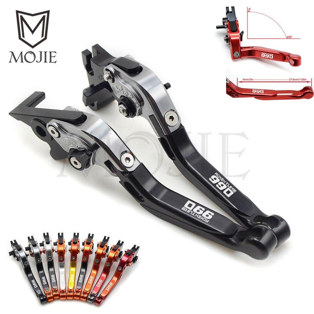 Pour KTM 990 Adventure 990 2009 CNC de moto réglable pliable levier d'embrayage de frein extensible 990 aventure moto levier ensemble