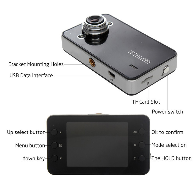 Camera-Recorder DVR Dash-Cam K6000 Auto-Tachograph 1080 Night-Vision Full-Hd-Drive 90-Degree