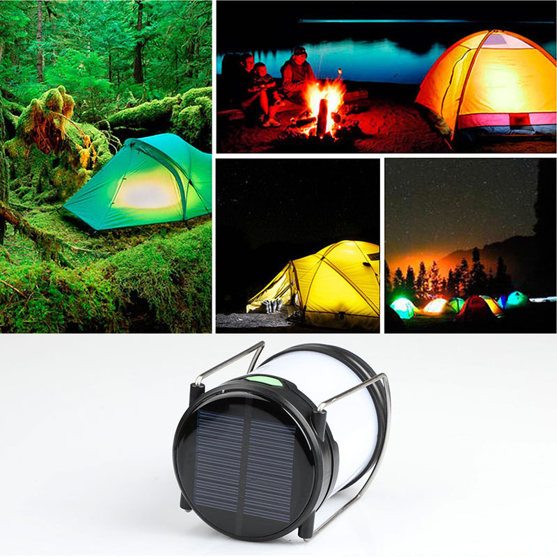 2 Pcs Solar LED Light Portable Outdoor Lantern Emergency Lamp for Night Fishing Hunting Camping CLH@8