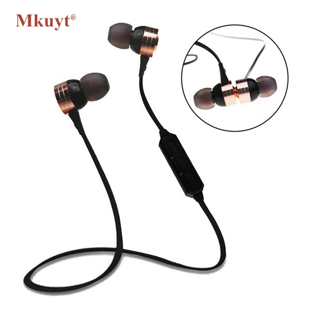 MKUYT S105 Running Sports Wireless Bluetooth Earphones BT 4.2 Stereo Bass In-Ear Headphones Headsets Earbuds with Mic for Phones magnetic switch earphones sports running wireless earbuds bass bluetooth headsets in ear with mic for running fitness exercise