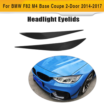 4 Series Carbon Fiber Headlight Eyebrows Eyelids Trims for BMW F32 F33 F36 F82 F83 M4 F80 M3 14-18 Car Styling image
